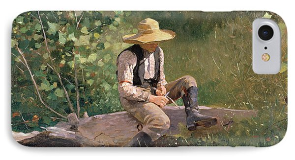 The Whittling Boy IPhone Case by Winslow Homer