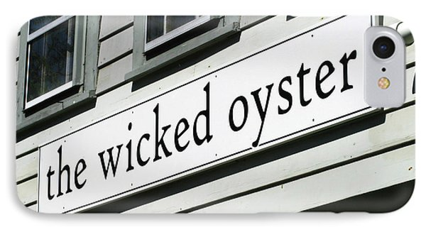 The Wicked Oyster Wellfleet Cape Cod Massachusetts IPhone Case