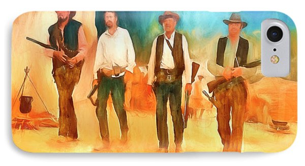 IPhone Case featuring the painting The Wild Bunch by Michael Cleere