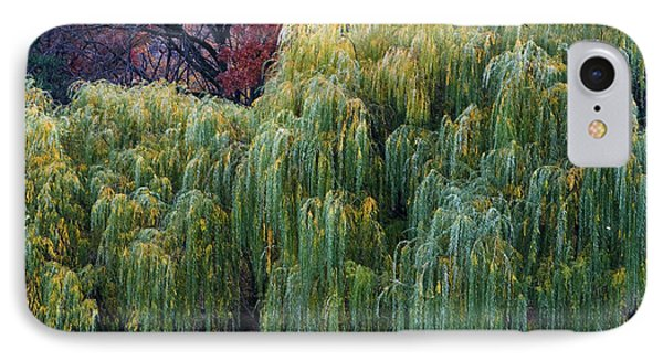 The Willows Of Central Park IPhone Case by Lorraine Devon Wilke