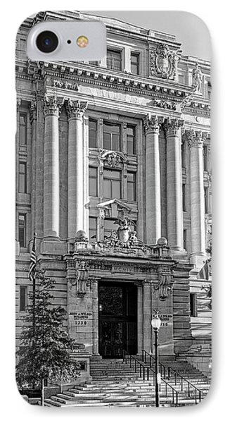 IPhone Case featuring the photograph The Wilson Building In Black And White by Greg Mimbs