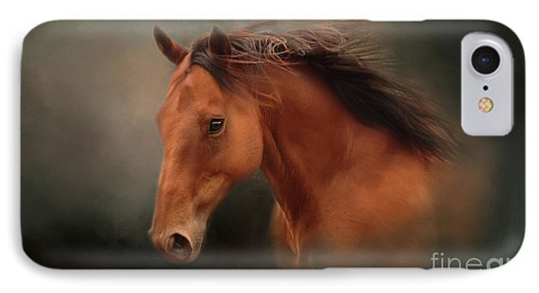 The Wind Of Heaven - Horse Art IPhone Case by Michelle Wrighton