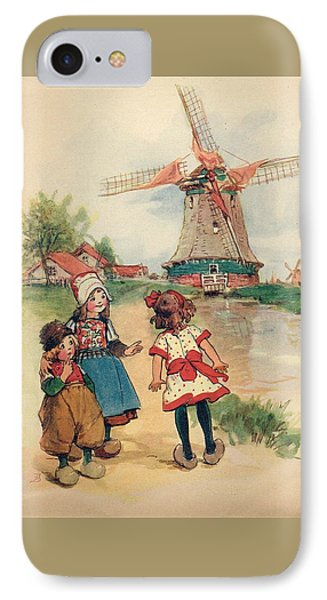 The Windmill And The Little Wooden Shoes IPhone Case