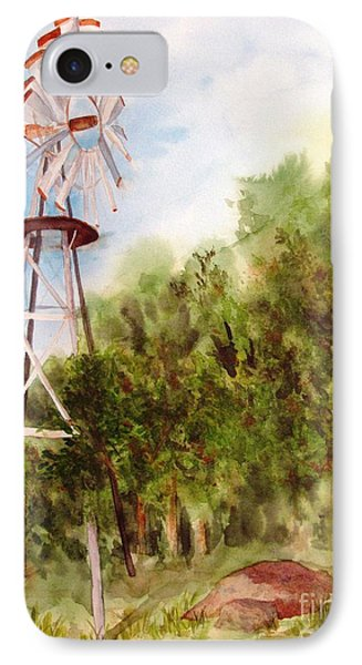 The Windmill  IPhone Case by Vicki  Housel