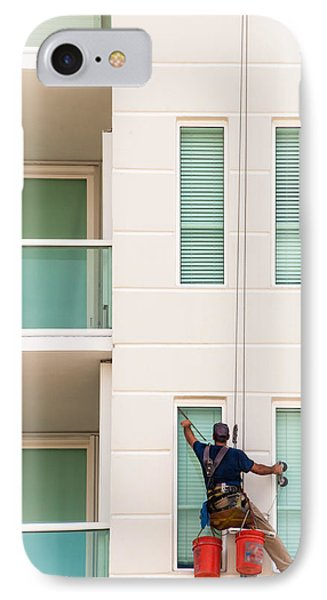 The Window Washer IPhone Case by Frank Mari