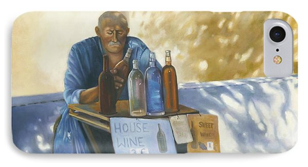 IPhone Case featuring the painting The Wineseller by Marlene Book