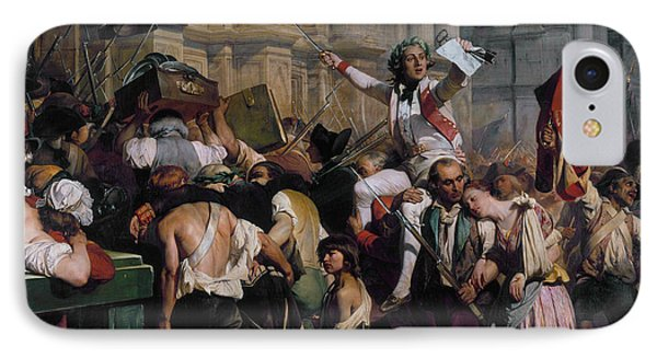 The Winners Of The Bastille In Front Of The Town Hall IPhone Case by Paul Delaroche