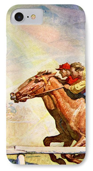 The Winning Post IPhone Case by Newell Convers Wyeth