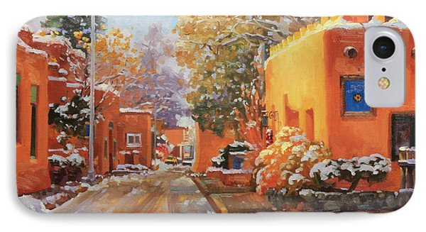 The Winter Beauty Of Santa Fe IPhone Case by Gary Kim