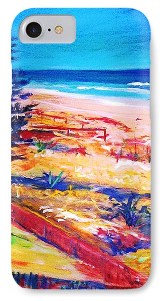 IPhone 7 Case featuring the painting The Winter Dunes by Winsome Gunning