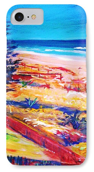 IPhone Case featuring the painting The Winter Dunes by Winsome Gunning