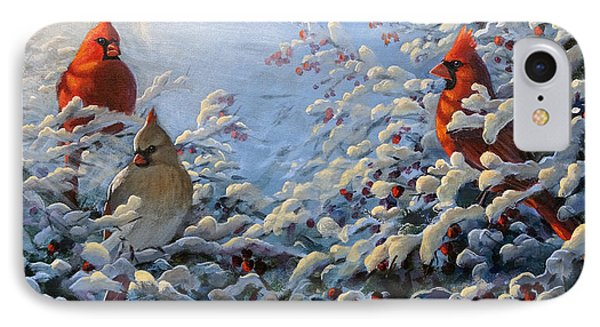 The Winter Garden And Cardinals IPhone Case