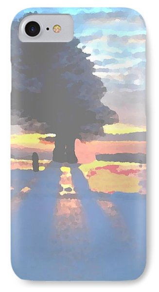The Winter Lonely Tree IPhone Case by Dr Loifer Vladimir
