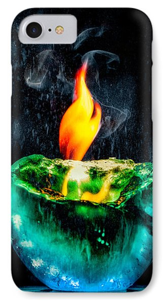 IPhone Case featuring the photograph The Winter Of Fire And Ice by Rikk Flohr