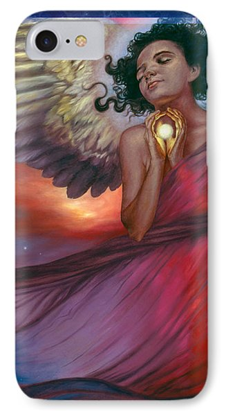 IPhone Case featuring the painting The Wish Bearer by Ragen Mendenhall