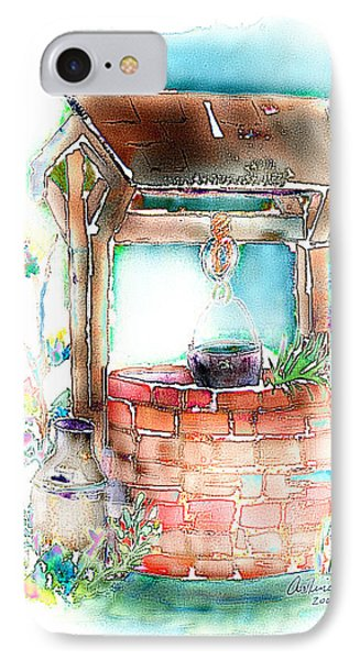The Wishing Well IPhone Case by Arline Wagner