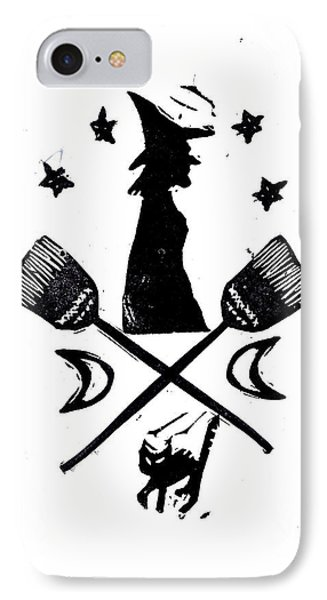 The Witches Crest Halloween Silhouette IPhone Case