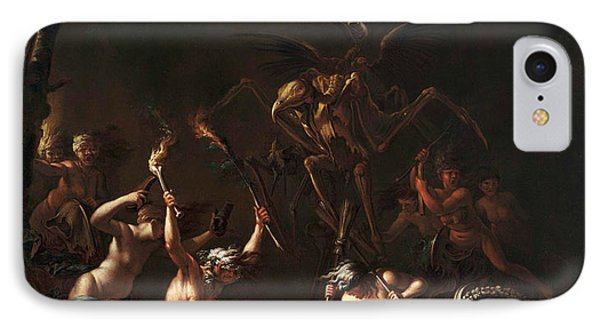 The Witches' Sabbath IPhone Case by Salvator Rosa