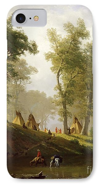 The Wolf River - Kansas IPhone Case by Albert Bierstadt