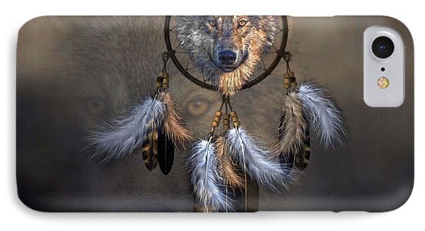 Wolf Spirit Dream Catcher IPhone Case by G Berry