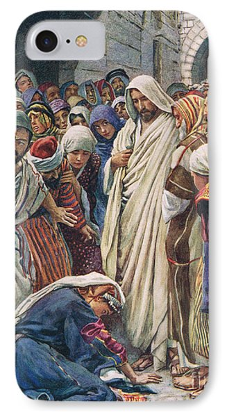 The Woman Who Touched The Hem Of His Garment IPhone Case by Harold Copping