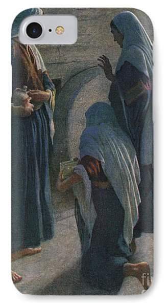 The Women At The Sepulchre IPhone Case by Harold Copping