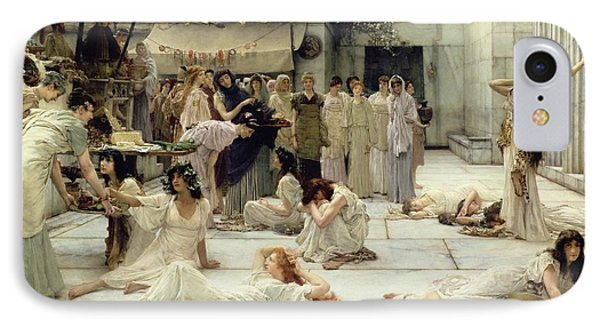 The Women Of Amphissa IPhone Case by Sir Lawrence Alma-Tadema