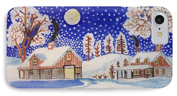 IPhone Case featuring the painting The Wonder Of Winter by Connie Valasco