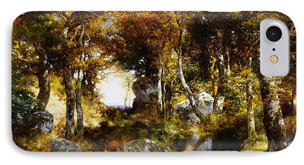The Woodland Pool Phone Case by Thomas Moran