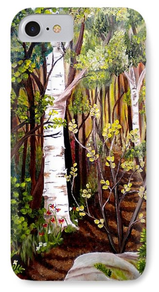 The Woodland Trail IPhone Case by Renate Nadi Wesley