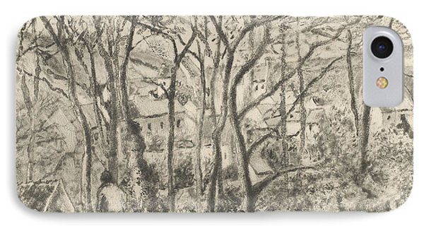 The Woods At L'hermitage, Pontoise IPhone Case by Camille Pissarro