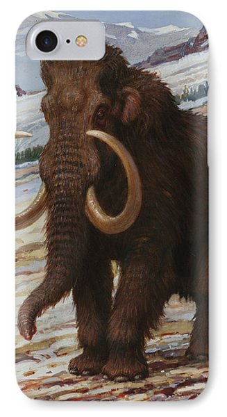 The Woolly Mammoth Is A Close Relative Phone Case by Charles R. Knight