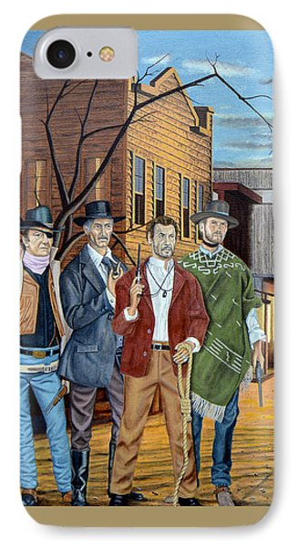 The World Of Classic Westerns Phone Case by Tony Banos