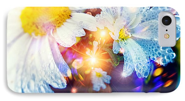 The World Of Dancing Flowers IPhone Case by Mikko Tyllinen