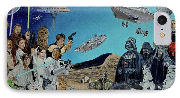 The World Of Star Wars Phone Case by Tony Banos
