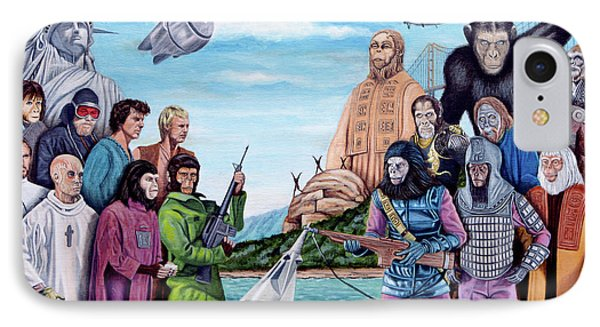 The World Of The Planet Of The Apes Phone Case by Tony Banos