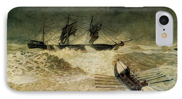 The Wreck Of The Iron Cloud, 1881 IPhone Case by Winslow Homer