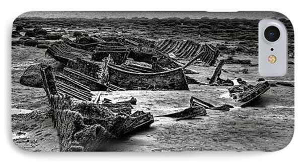 The Wreck Of The Steam Trawler IPhone Case by John Edwards