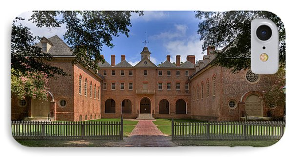 The Wren Building At William And Mary IPhone Case by Jerry Gammon