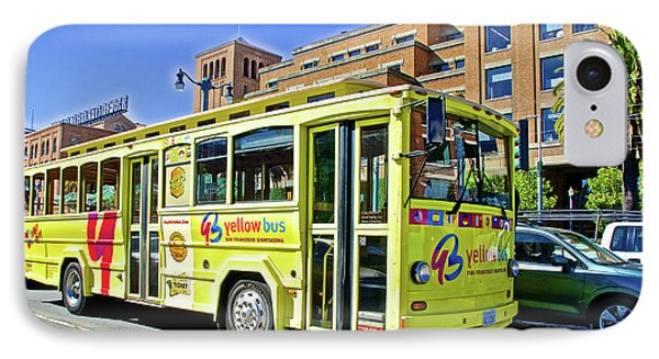 The Yellow Bus On  Embarcadero In San Francisco-califonria IPhone Case by Ruth Hager
