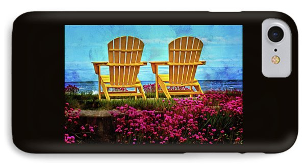 The Yellow Chairs By The Sea IPhone Case