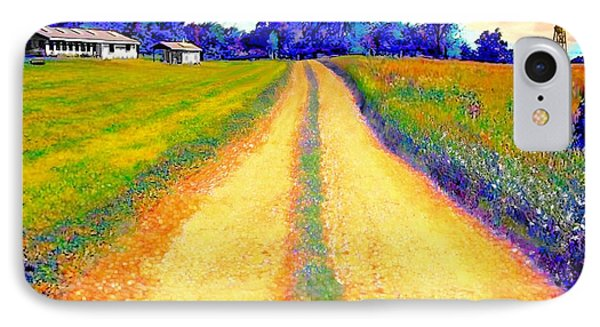 The Yellow Dirt Road IPhone Case by Jann Paxton
