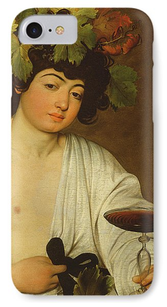 The Young Bacchus IPhone Case by Caravaggio