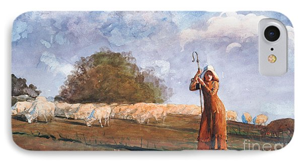 The Young Shepherdess Phone Case by Winslow Homer