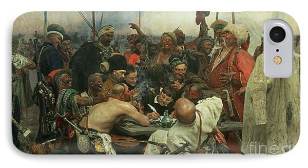 The Zaporozhye Cossacks Writing A Letter To The Turkish Sultan IPhone Case
