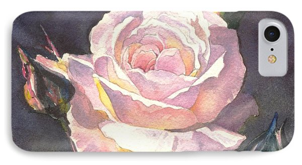 IPhone Case featuring the painting Thea's Rose by Sandra Phryce-Jones