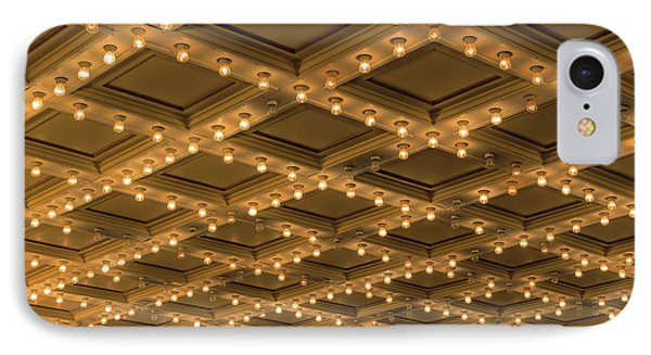 Theater Ceiling Marquee Lights Phone Case by David Gn