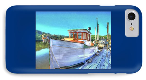 Thee Old Dragger Boat IPhone Case by Thom Zehrfeld