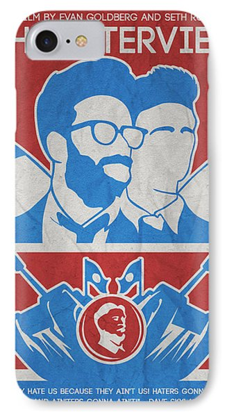 Theminimalist Movie Poster- The Interview IPhone Case by Celestial Images