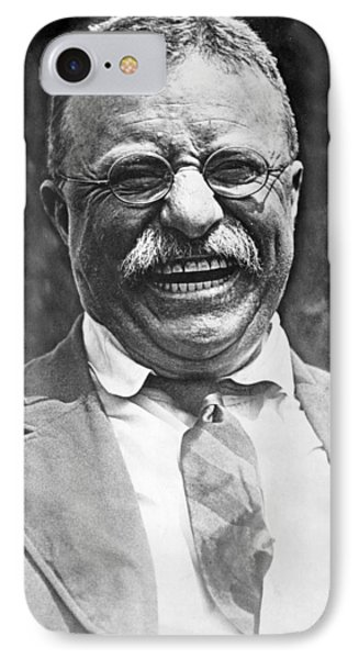 Theodore Roosevelt Laughing IPhone Case by International  Images